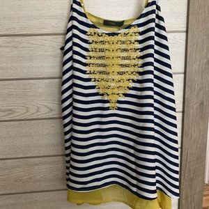 THML Striped Embroidered Tank